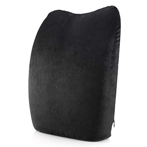 Trihedral-X Memory Foam Amortiguador Trasero Soporte Lumbar Inferior Silla de Oficina de Apoyo del Respaldo Backpain Alivio for Ministerio del Interior (Colore : Black Flannel)