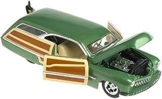 100% Hot Wheels Green MERC Woodie 1950 Die Cast Car