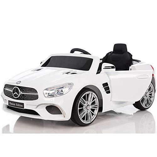 ATAA Mercedes SL400 con Mando para Adultos - Blanco Coche eléctrico para niños versión 2020 con batería 12V