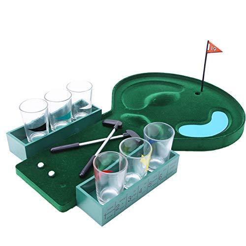SALUTUYA con 6 Copas de Vino, Juego de Golf de Mesa portátil, convenientes Juegos para Adultos, para Entretenimiento, para Adultos