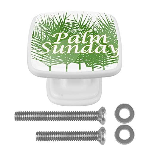 Gałki do szafki 4 szt. uchwyty do wyciągania ze szkła kryształowego, niedzielę palmową, do otwartych drzwi mebli lub szuflad