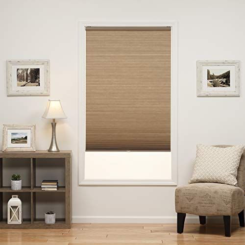 Perfect Lift Window Treatment Cut-to-Width Linen Cordless Light Filtering Cellular Shade - 52.5 in. W x 48 in. L