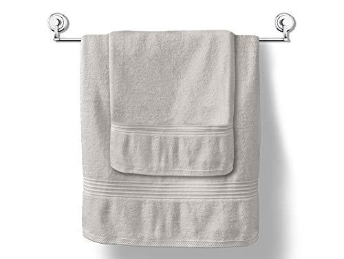 MODHAUS Handtuch Duschtuch Mistral 50x90 cm 100% Baumwolle Frottee Aschgrau