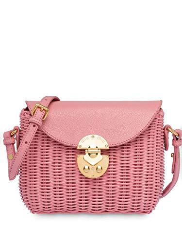 Miu Miu Luxury Fashion Damen 5BH1712D6FF0028 Rosa Leder Schultertasche | Frühling Sommer 20