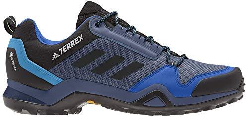 adidas Herren Terrex Ax3 GTX Freizeitschuhe und Sportbekleidung, Schwarz (Black CORE/CORE Black/Cyan Shock), 42 2/3 EU