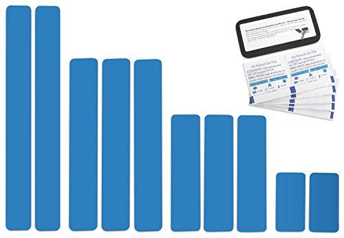Selbstklebende Planenreparatur Tapes   10 teilig   Easy Patch Comfort 50mm   Für Pools, Planen uvm.   Lichtblau RAL 5012