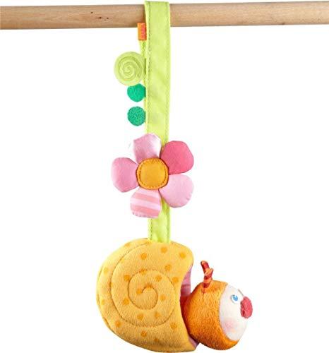 HABA 304284 - Hängefigur Schnecke, Babyspielzeug aus Textil mit Rassel-Effekt, ideal als Geschenk zur Geburt und Taufe