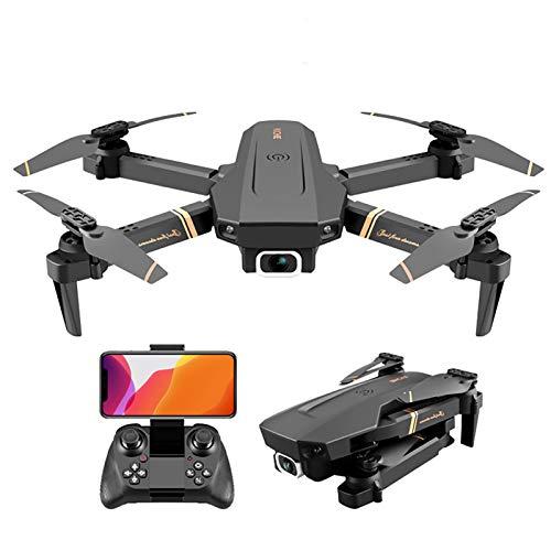 Drone con videocamera 4K HD per adulti, drone video live FPV WiFi pieghevole con ritorno automatico a casa, tempo di volo di 18 minuti, seguimi, volo circolare, quadricottero RC Drone per principianti