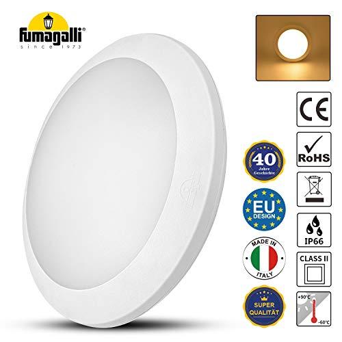 LED Deckenleuchte Weiß Rund, 35cm Durchmesser, 180 Abstrahlwinkel, Badlampe IP66 Wasserfest, Deckenlampe, Wohnzimmer-lampe, Innenbeleuchtung, Außenbeleuchtung (Nicht inkl. Leuchtmittel)