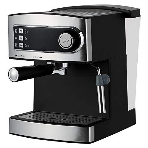 BTASS Espressomaschine, Retro-Design, 850 W Stromverbrauch 20 Bar Druck 1.6 Liter Abnehmbarer Wassertank Dampfdüse Siebeinsatz Schwarz