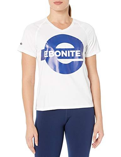Ebonite Damen Hemd, feuchtigkeitsableitend, Gr. XXXL, Weiß