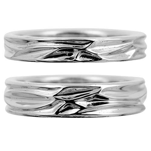 [ココカル]cococaru ペアリング 2本セット K18 ホワイトゴールド 結婚指輪 日本製 (レディースサイズ19号 メンズサイズ17号)