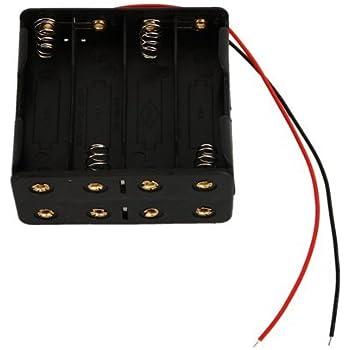 SODIAL(R) - Caja para pilas (AA, 12V): Amazon.es: Electrónica