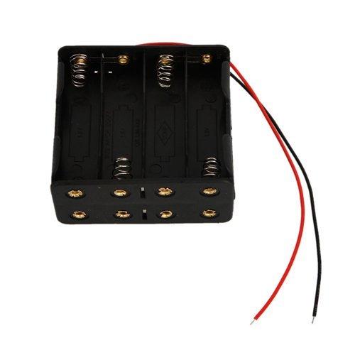 Sonline Scatola Porta 8 batterie AA (12V) Nera