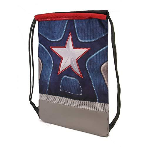 Karactermania Captain America Suit-Sacca Storm Bolsillo Suelto para Mochila, 48 Centímetros, Multicolor