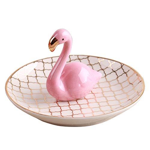 Larew Plato de joyería de cerámica soporte de joyería bandejas de joyería bandeja de joyería para anillos pendientes, pulseras, collares relojes (2#)