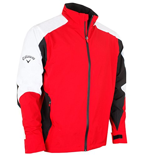 Callaway Tour 3.0 Waterproof Jacket Chaqueta Deportiva, Rojo (Rojo 613), Medium (Tamaño...