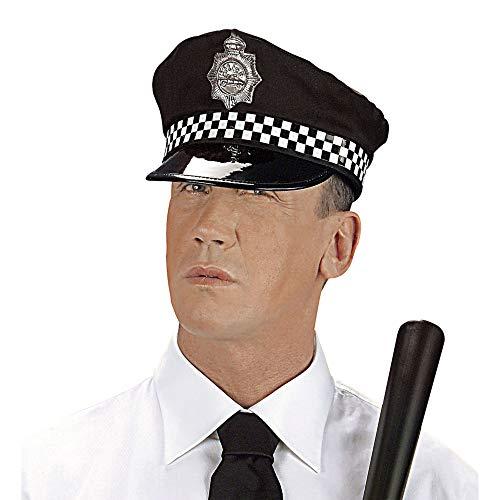 Widmann 3327K - Englischer Polizistenhut, Kopfbedeckung, Polizei, Mottoparty, Karneval