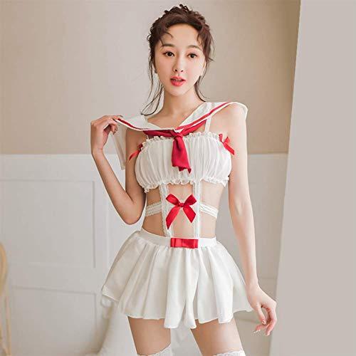 QIAO Qi Hüfte Faltenrock japanischen Party Kragen dynamische Vitalität Studentin tragen