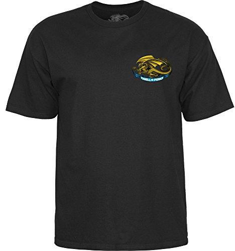 Powell Peralta T-Shirt mit ovalem Drachenmotiv, Gr. L, Schwarz