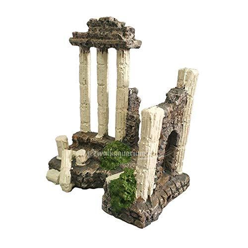 LOOPIG Ancient Greek Temple Ruins Roman Aquarium Decorations Terrarium Ornament Decor