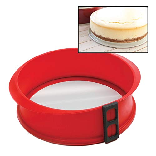Norpro 3939 Silicone Springform Pan with Glass Base