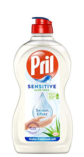 Pril Sensitive Aloe Vera, 450 ml, Handgeschirrspülmittel, pH hautneutral mit Seideneffekt