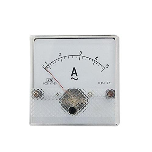 Aexit YS-80 Klasse 2.5 Genauigkeit Kunststoffgehäuse AC 0-5A Analog Amperemeter (5b300b3a1ceaba29cd84d8a38dce1d69)