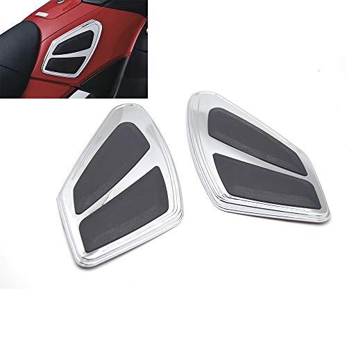 Yang hua Chrome Motorfiets Brandstof Tank Anti-Scratch Anti-Slip Kniebeschermers Verzekering Patch voor Honda Golden Wing GL1800 2012-2017, FB6 2012-2017