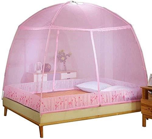Zhihao Mosquito Pliant Filets Foldedable Camping moustiquaire Moustiquaires Universal Chambre Home Textile Out Door Supplies-Medium_Pink (Color : Pink, Size : Medium)