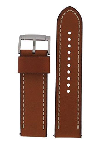 Fossil Uhrband Wechselarmband LB-JR1486 Original Ersatzband JR 1486 Uhrenarmband Leder 24 mm Braun