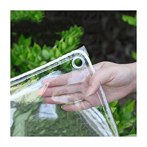 ZEMIN Exterior Lona Transparente, El Plastico Anti-envejecimiento Lona Impermeable, Personalizable Goma Blanda Balcón Anticongelante Cubierta Protectora (Color : Claro, Size : 1.5x2m)