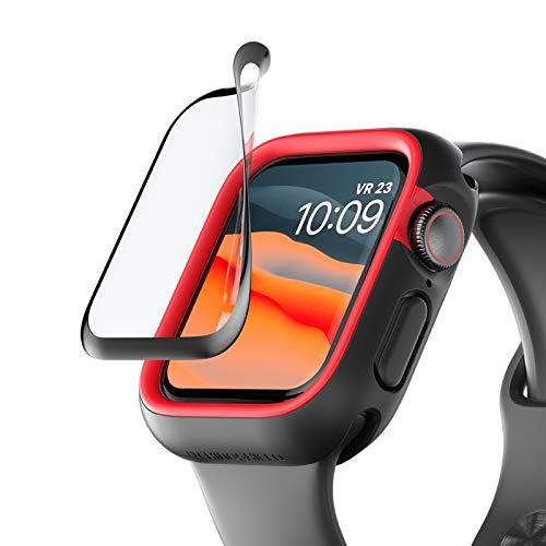 RhinoShield 3D Impact Screen Protector kompatibel mit Apple Watch Serie 3/2 / 1 [42mm] | 3x besserer Aufprallschutz - 3D gebogene Ecken für volle Abdeckung - Langlebig und Kratzresistent