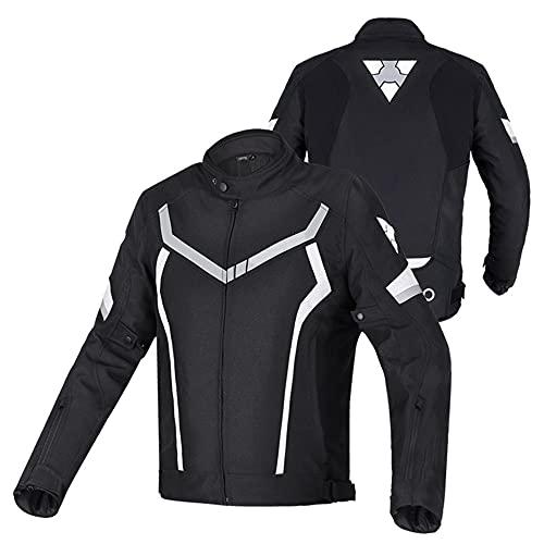 CYzpf Chaqueta de Moto Invierno Ropa Ligera y Transpirable Equipo Protección Abrigo Informal Motorcycle Jackets Exteriores Accesorios para Hombres Mujeres,Black,L