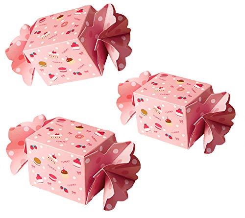 moin moin ラッピング ラッピング キャンディー ピンク ストロベリー お菓子 飴 スイーツ ドーナツ マフィン キャンディ型 組立 10枚セット