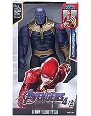 YSYSPUJ Actiefiguren Spiderman Hulk Action Figuur Black Panther Thanos Captain America Thor Iron 30cm Super Heroes Pop Model