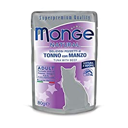 Monge Natural Cat Food – Tuna with Beef, 80g,1 sachet