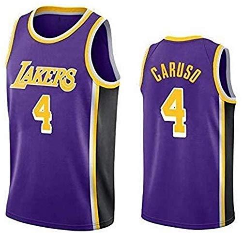 WSUN Camiseta De Baloncesto De La NBA para Hombre Lakers # 0 Kyle Kuzma Camiseta De La NBA Camiseta Sin Mangas Unisex Camiseta Bordada De Malla De Baloncesto Swingman,A,XL(180~185CM/85~95KG)