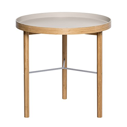 Bloomingville Table basse en bambou, Gris caillou/Naturel