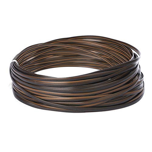 220 ft Wicker Repair Kit Wicker Supplies Rattan for Patio Chair Repair Flat Wicker Furniture Sofa Table Repair Plastic Replacement Dark Brown