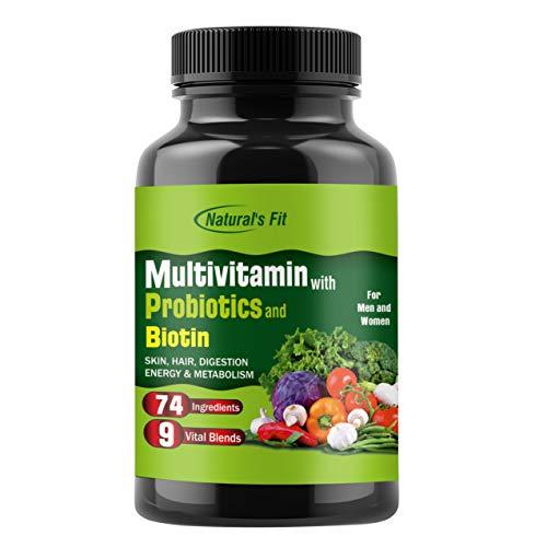 Natural's Fit Men's Daily Probiotics Multivitamin Supplement For Men & Women - 60 Capsules
