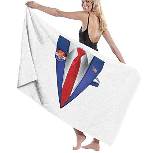 637 Bath Towels Donald Trump Traje Y Corbata para Disfraz De Presidente Toalla De Playa De Halloween Toallas De Bao Altamente Absorbentes Microfibra Navidad 80X130Cm Secado Rpido Lig