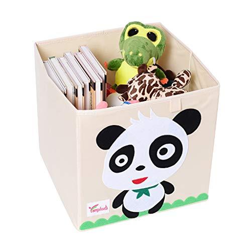 Patrón de dibujos animados de animales Caja de almacenamiento Cubo Juguete plegable Misceláneas Organizador de almacenamiento Cesta de lavandería grande
