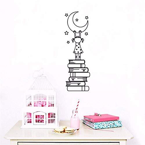 Cartoon boek Ist Die Ladder Waterdichte muursticker kunstwanddecoratie voor woonkamer slaapkamer kunstwandsticker wandschilderijen 30X92 cm