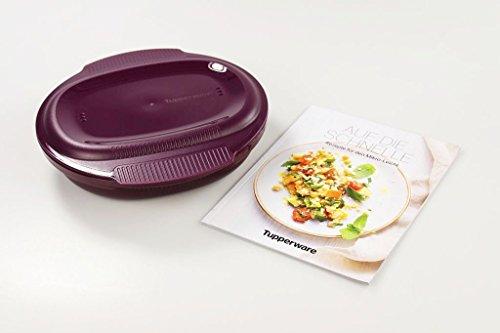 TUPPERWARE Microondas Healthy Delight de 775 ml, maestro de tortillas, incluye libro de recetas (idioma español no garantizado)