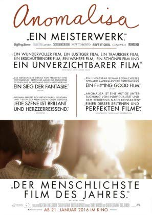 ANOMALISA – German Movie Wall Poster Print - A4 Size Plakat Größe