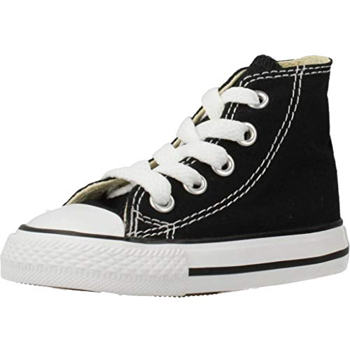 Converse Unisex Baby Chuck Taylor All Star High Krabbelschuhe, Schwarz (Black 001), 18 EU