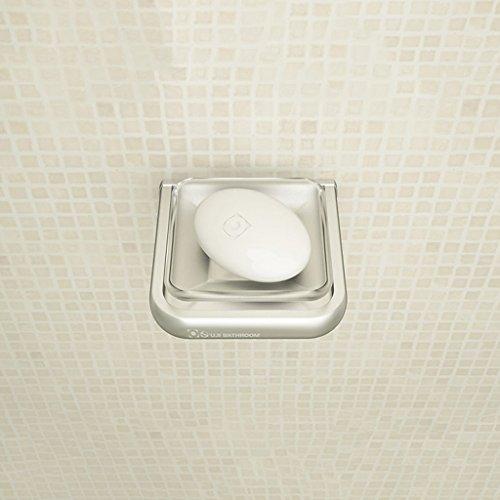 Qivor Plato de jabón de baño de Aluminio de baño Accesorios de baño de jabón Jabonera Neto