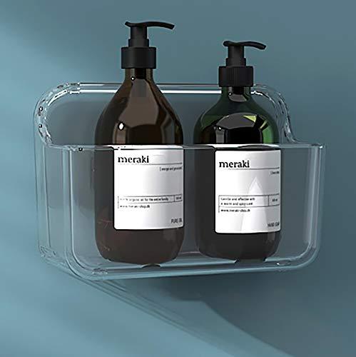 Organizador de pared de plástico para estantería, caja de almacenamiento para cocina, baño, gabinete, inodoro, oficina, dormitorio, sala de manualidades – transparente (pequeño)