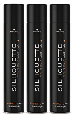 Schwarzkopf Silhouette Super Hold Hairspray 3 x 500ml = 1500ml